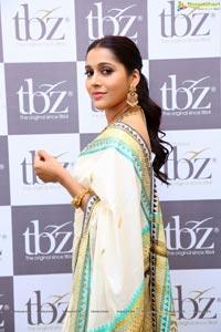 Rashmi Gautam at TBZ New temple Collection Launch